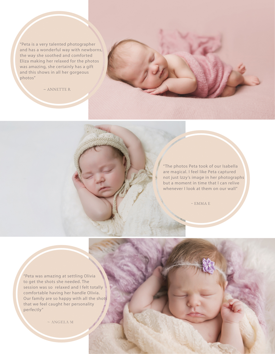 Reviews - Hobart Newborn Photographer